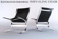 3d restoration hardware 1950 s model