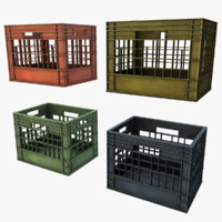 3d plastic crates model