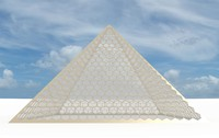 big hexagon pyramid obj