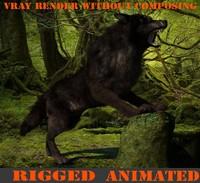 3dsmax mammal wolf