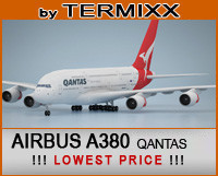 3d model of airplane airbus a380 qantas