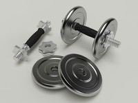 3d barbell dumbbell dumb
