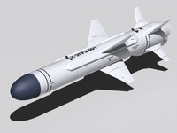 kh-35ue missile aircraft 3d model