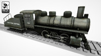 obj steam locomotive ls 08
