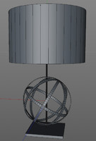 armillary sphere lamp 3d 3ds