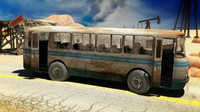 maya rigged bus