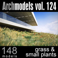 archmodels vol 124 plants 3d c4d