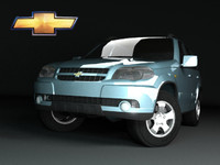 3d model russian chevrolet niva
