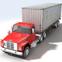 truck trailer container construction c4d