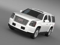 gmc yukon hybrid 2008 3ds