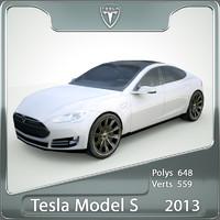 2013 Tesla Model S lowpoly