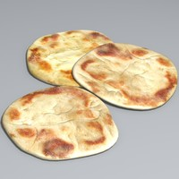 3d naan bread model