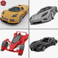 3d model supercars 6 super car