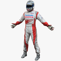 3d racing driver toyota model