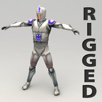 3d rigged fantasy hero model