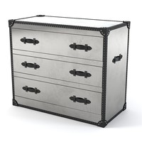 Andrew Martin Steel Howard Chest of Drawers