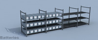 3d model battery data center