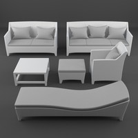 3d model of lounge furniture barcelona