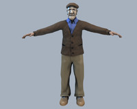 3d old man genaro model