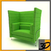 3dsmax alcove sofa