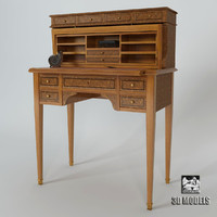 provasi writing desk 3d model