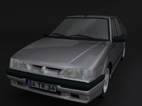 3d renault 19 europa model