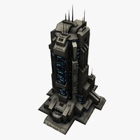 Sci Fi City Building Tall 3