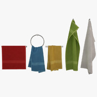 3d model of towels v-ray cloth
