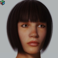 3d realistic woman debora model