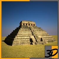 3d model palenque mexico