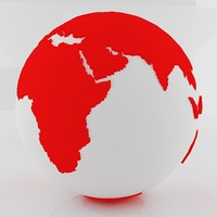 Red World Sphere