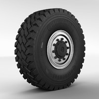 maya wheel off-road truck