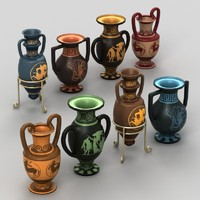 3d model of ancient greek amphora
