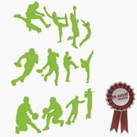 sport silhouette 3d model