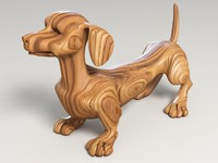 3ds max decoration dog