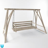swing yard wooden model