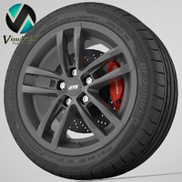 wheel ats radial 3d model