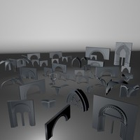 3d medieval arches model