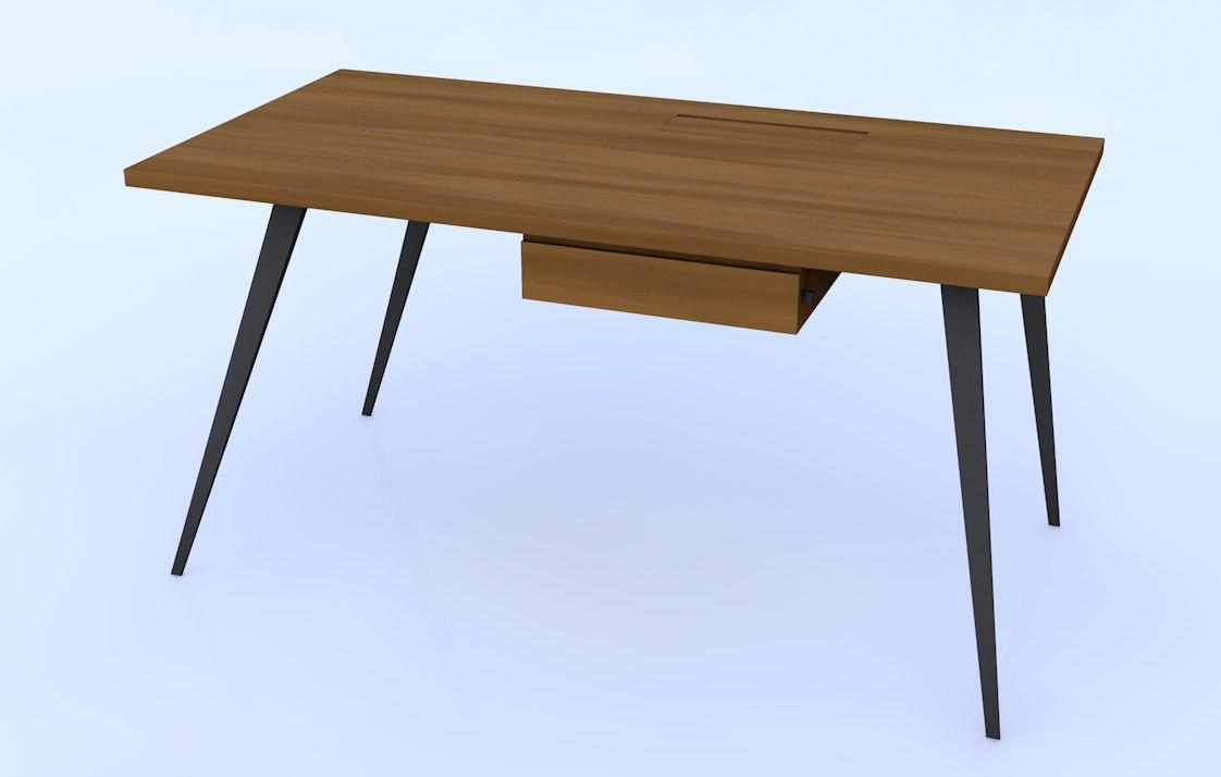 Powerdesk moritz frank 3d model for Schreibtisch 3d modell