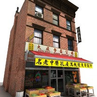 3d model china town building