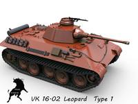 tank vk leopard 3d max