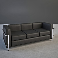 Le Corbusier sofa LC2 3 seater