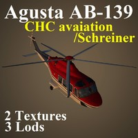 agusta chc helicopter 3d max
