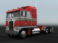 k100c semi truck 3d model