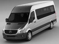 3d model mercedes sprinter bus