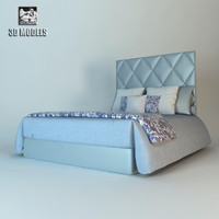 bed fendi princess 3d model