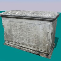3d model old tombstone -