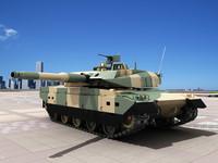 3D Model Japanese Type 10 Tank JSDF