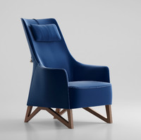 3d model giorgetti mobius armchair