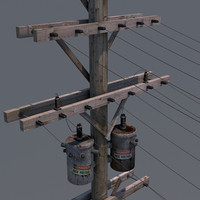3d model power pole